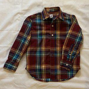 Boys Gap long sleeve Plaid Shirt